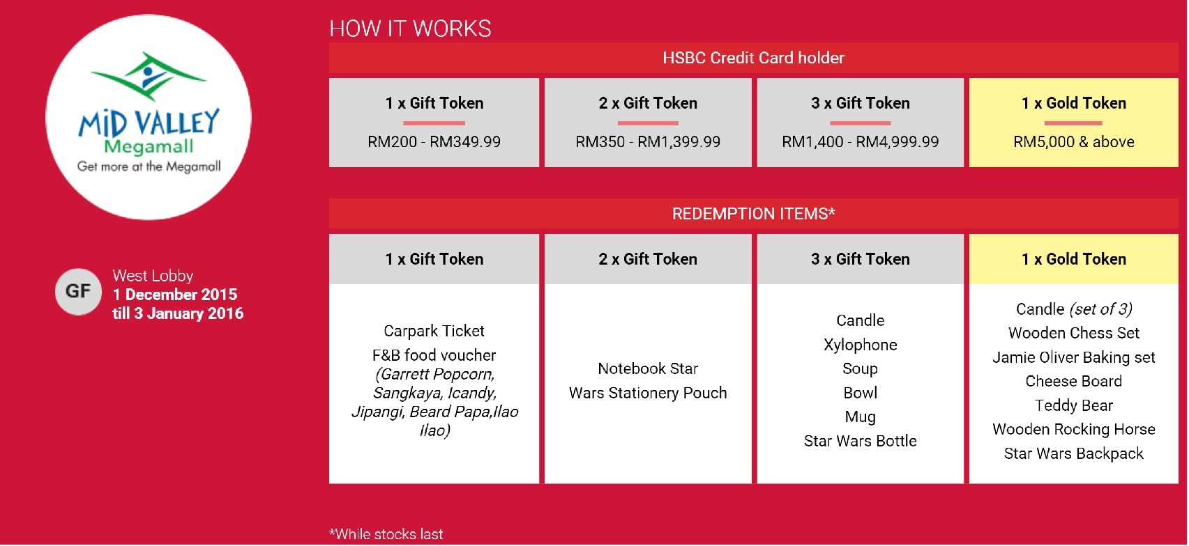 HSBC Credit Card Promotion - HSBC Gift With Purchase at Mid Valley