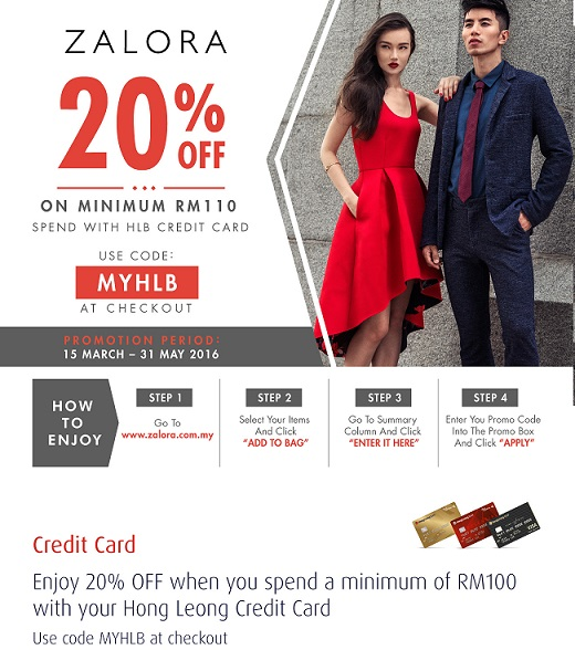 Hong Leong Credit Card Promotion Enjoy 20 Storewide At Zalora Malaysia