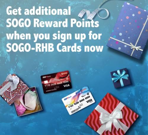 rhb credit card promotion get additional sogo reward points when you sign up for sogo rhb. Black Bedroom Furniture Sets. Home Design Ideas